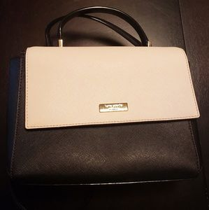 Kate Spade Black and Light Tan Crossbody Handbag